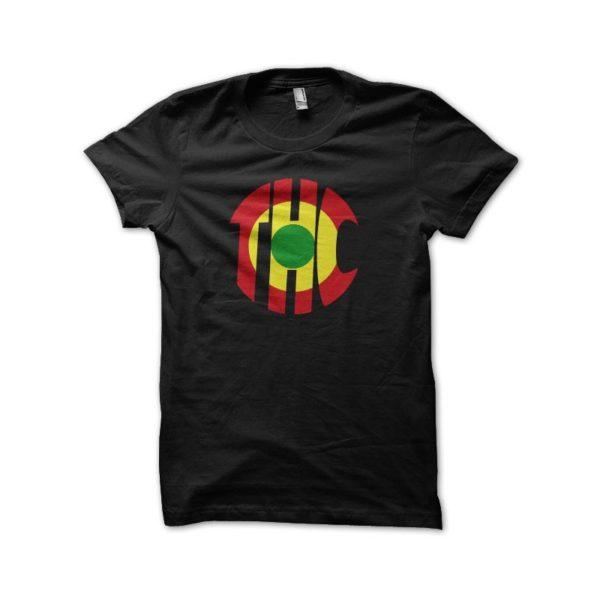 Rasta Tee-Shirt THC rasta black t-shirt