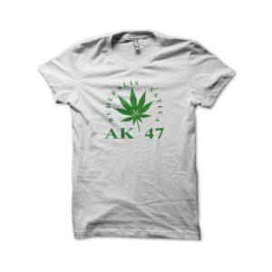 Rasta Tee-Shirt Tee Shirt AK 47 White