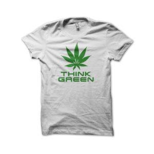 Rasta Tee-Shirt Tee Shirt Think Green White
