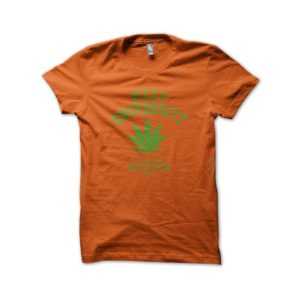 Rasta Tee-Shirt Tee Shirt University Weed cannabis Orange