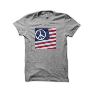 Rasta Tee-Shirt Tee shirt USA Peace and Love Woodstock 69 grey