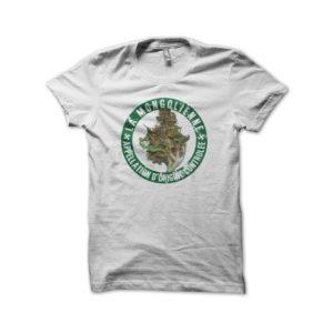 Rasta Tee-Shirt The shirt Beuze The Mongolian AOC cannabis white
