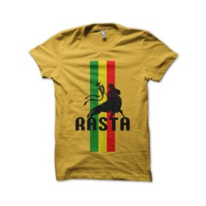 Rasta Tee-Shirt The shirt rasta lion yellow root