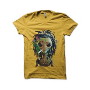 Rasta Tee-Shirt UFO yellow shirt rasta