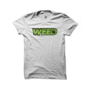Rasta Tee-Shirt Weed ganja white t-shirt