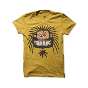 Rasta Tee-Shirt Yellow tee shirt Rastaman
