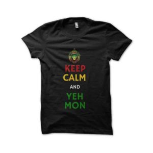 Rasta Tee-Shirt Yes my keep calm rasta t-shirt