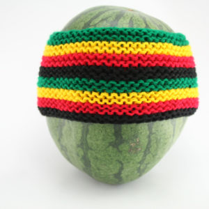 Headband Rasta Eight Stripes 4 Inches