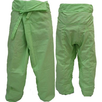 Trousers Thai Fisherman Pants Apple Green