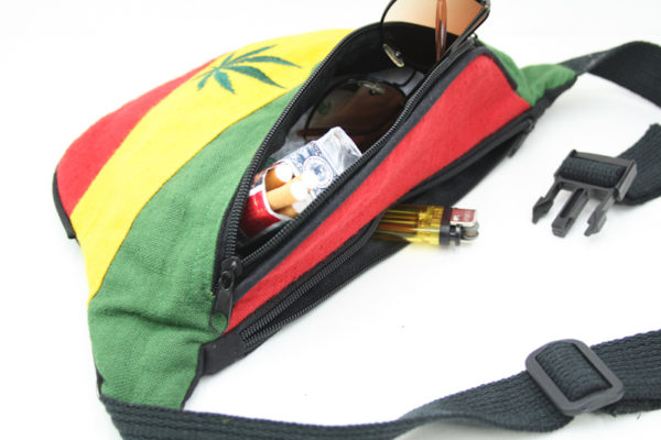 Bag Waist Hemp Cannabis Leaf Green Yellow Red