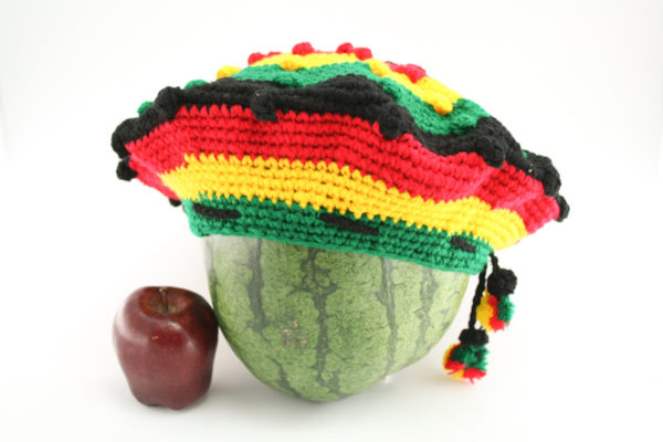 Tam Rasta Balls Pattern Green Yellow Red