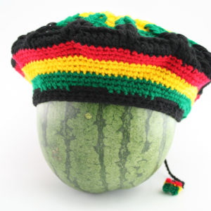Tam Rasta Spider Pattern Green Yellow Red