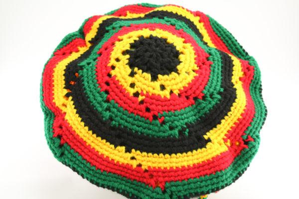Tam Rasta Circle Pattern Green Yellow Red