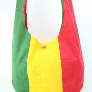 Bag Hippie Big Size Shoulder Button Green Yellow Red