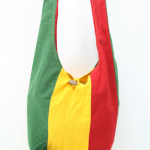 Bag Hippie Small Size Shoulder Button Green Yellow Red