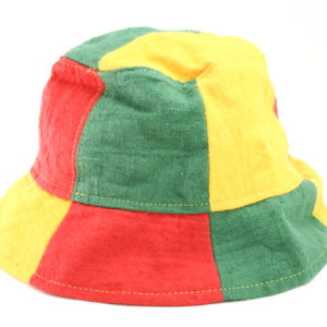 Bucket Hat Green Yellow Red Reggae Colors