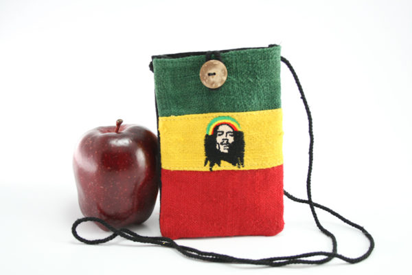 Bag Passport Hemp Rastaman Button