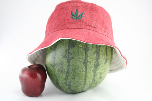 Bucket Hat Pink Cannabis Leaf