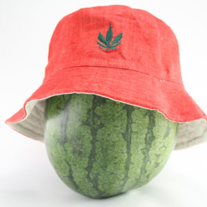 Bucket Hat Red Cannabis Leaf