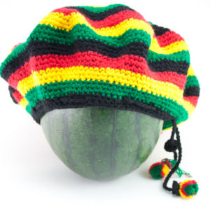 Tam Rasta Colorful Circles Green Yellow Red