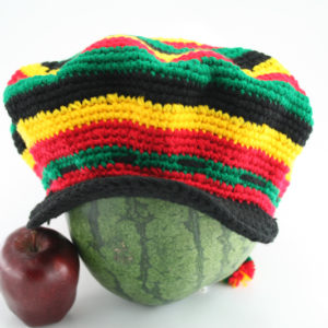 Tam Rasta Visor Circle Pattern Green Yellow Red