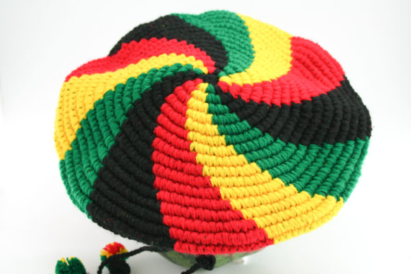 Tam Rasta Visor Swirl Pattern Green Yellow Red