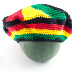 Tam Rasta Swirl Pattern Green Yellow Red