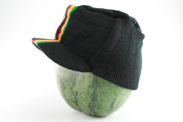 Cap Black Hiphop Central Green Yellow Red Stripes
