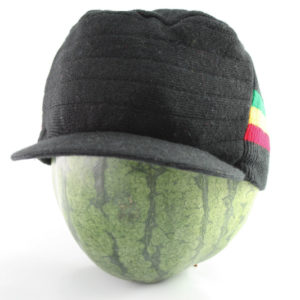 Cap Black Hiphop Green Yellow Red Stripes