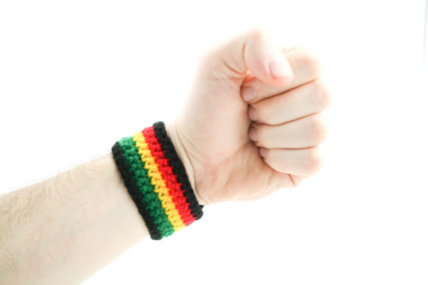 Wristband Crochet Rasta 4 Colors