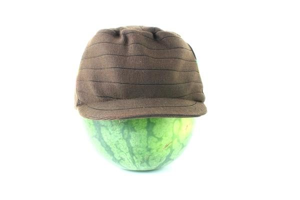 Cap Brown Hiphop Green Yellow Red Stripes