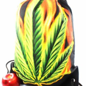 Backpack Cannabis Leaf Drawstring Strong Light Fabric