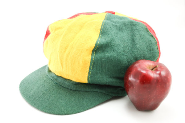 Cap Hemp Dreadlocks Green Yellow Red