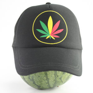 Cap Black Color Green Yellow Red Cannabis Leaf