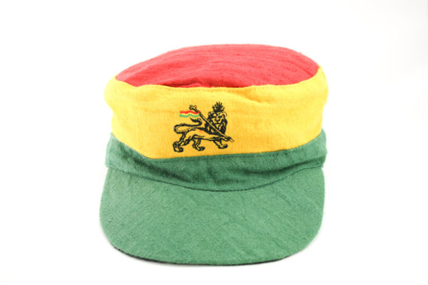 Cap Hemp Green Yellow Red Lion of Judah