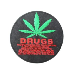 Patch Black Circle Drug Prohibition