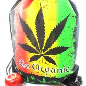 Backpack Cannabis Organic Drawstring Strong Light Fabric