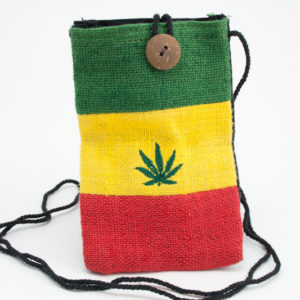 Bag Passport Hemp Ganja Leaf Button