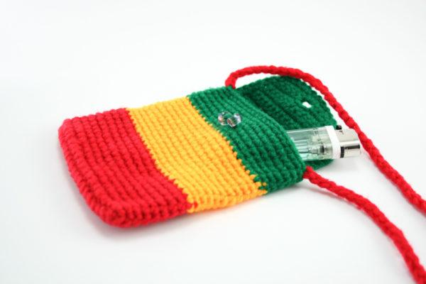 Bag Mobile Rasta Knitted Shoulder Button