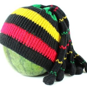 Beanie Fake Dreadlocks Green Yellow Red Rasta