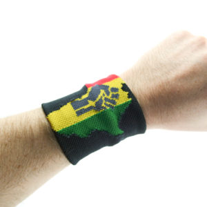 Rasta Store Africa Power Wristband Rasta Colors Africa on Black Writsband