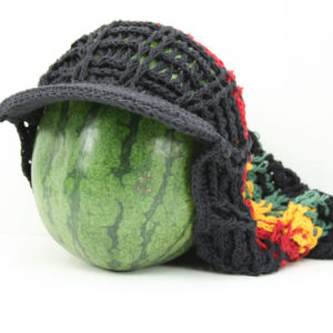 Cap Dreadlocks Oversize Black Net Rasta