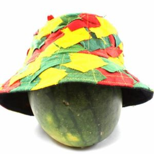 Hat Bucket Style Rasta Colors Fishing Hat Patchwork
