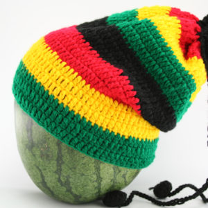 Dreadlocks Sheath Long Large Stripes Green Yellow Red Black