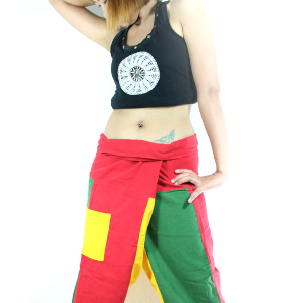 Trousers Short Rasta Green Yellow Red
