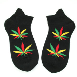 Low-cut Socks Black Cannabis All Sizes