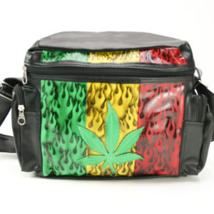 Bag Vinyl Big Size Shoulder Cannabis Leaf