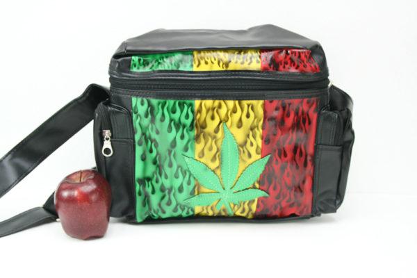 Bag Vinyl Big Size Shoulder Cannabis Leaf