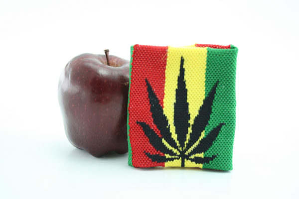 Rasta Store Cannabis Wristband Rasta Colors Stripes Writsband with Marijuana