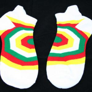 White Green Yellow Red Rasta Socks Psycho Shapes Unisex Stretchable Men